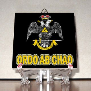 Chao Ceramic Tile Masonic Double Headed Eagle Freemasonry Masonry M2
