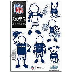 Dallas Cowboys Car Truck auto NFL Family Decals Vinyl 5X7 6 pack set