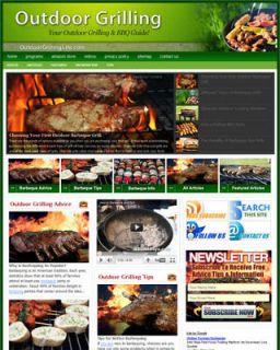 Established OUTDOOR GRILLING & BBQ Website For Sale .(Websites by