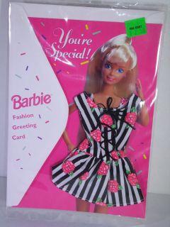 NIB BARBIE DOLL 1994 FASHION GREETING CARD HAPPY BIRTHDAY