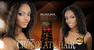 Chocolate Wet & Wavy 14   100% Human Hair Weaving
