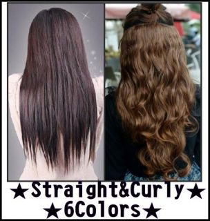 korea women long straight wavy curly hair extension clips on stylish