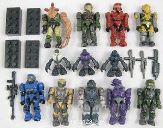12 PCS Mega Bloks Halo Reach Figure Master UNSCMARIN Spartan Grunts