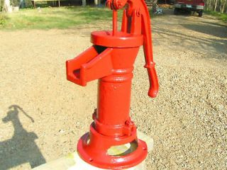 Heavy Cast Iron Hand Water Pump Spout GARDEN Well Red