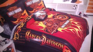 KIDS YOUTH ADULTS SPECIAL HARLEY DAVIDSON COMFORTER TWIN FULL QUEEN
