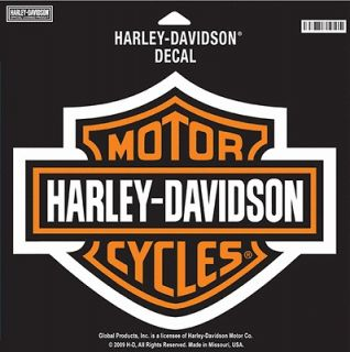 HARLEY DAVIDSON ORANGE BAR SHIELD DECAL LARGE DECAL