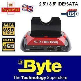 IDE SATA HDD HARD DRIVE DISK DOCK DOCKING STATION ALL IN 1 USB