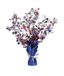 of July Foil Red White Blue Stars Table Centerpiece Party Decoration