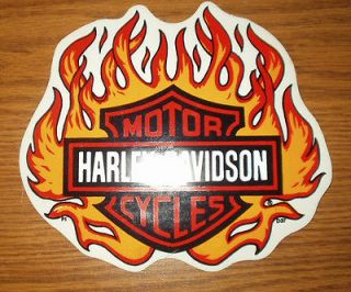 Newly listed HARLEY DAVIDSON SHIELD AND FLAMES DECAL.6.5X5.5.RARE