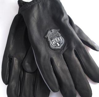 Harley Davidson Police 1 Logo Cabretta Leather Gloves