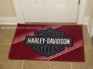 Harley Davidson Red Tufted Rug Door Mat NEW
