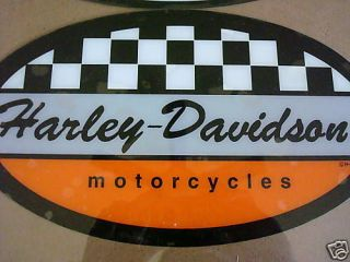 New Harley Davidson Racing Flag Medium Window Decal Sticker Reverse