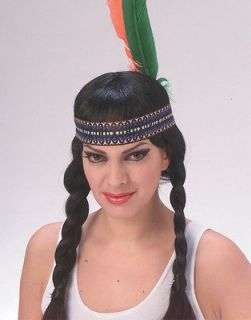 Pocahontas Princess Native American Indian Girl Feather Headband