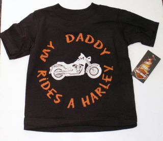 Harley Davidson Toddler Boy T  Shirt   My Daddy Rides A Harley   Kids