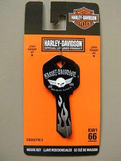 Kwikset Harley Davidson Grey Skull Key Blank