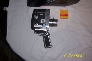 Vintage Bell and Howell 8 mm Video Camera with Leather Case