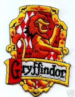 BRITISH PATCH HARRY POTTER HOUSE OF GRYFFINDOR CREST