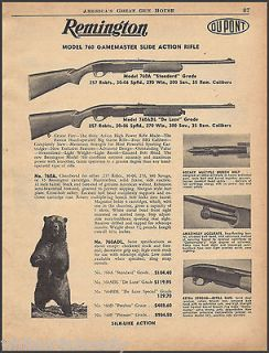 1956 REMINGTON 760 Gamemaster Slide Action RIFLE AD~760A~760ADL
