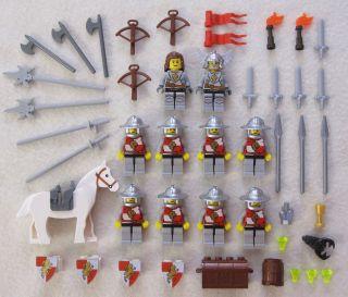 CASTLE KNIGHT MINIFIG LOT Kingdoms Lion figures minifigures people