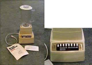 VINTAGE WARING 7 SPEED BLENDER Plastic, Tan works fine
