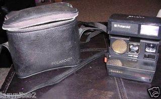 Polaroid Sun 660 Autofocus Instant Film 600 Land Camera WITH CASE