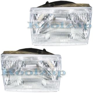 98 Jeep Grand Cherokee Headlights Headlamps Head Lights Lamps Pair Set
