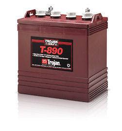 Trojan 8 Volt T 890 Golf Cart Batteries   6 Batteries