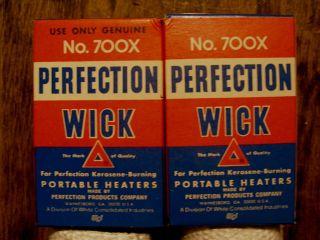 Genuine No 700X Perfection Wick Kerosene burning Portable Heaters NIB