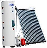 100 Liter 15 Vacuum Tube Solar Water Heater System Electric Backup