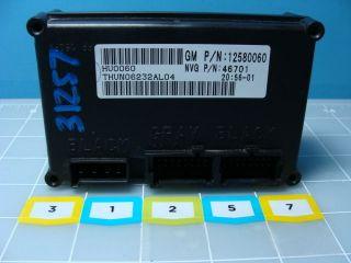 Trailblazer Bravada Rainer Transfer Case Module TCU TCM 12580060