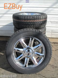 20 GMC YUKON DENALI FACTORY CHROME WHEELS 5304 GOODYEAR TIRES BRAND