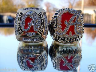 2009 and 2011 ALABAMA CRIMSON TIDE NATIONAL CHAMPIONSHIP RINGS BOTH