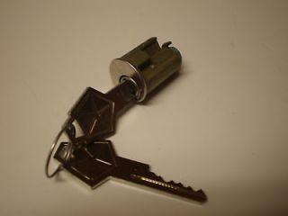 NEW IGNITION SWITCH LOCK CYLINDER W/KEYS, PLYMOUTH 1949 55 MOPAR