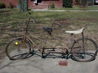 Antique vintage 1950s two (2) seater Huffman Huffy Bicycle Bike