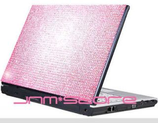 Pink Notebook Laptop Cover Bling Rhinestone Crystal Sticker Skin 12 13