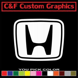 Honda Logo Car Truck ATV Vinyl Decal 4.5x5.5 You Pick Color