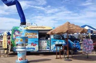 SURFS UP HAWAIIAN SHAVED ICE / ICE CREAM   VENDING FOOD TRUCK