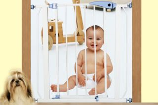 auto close expandable baby pet dog safety gate fence auto