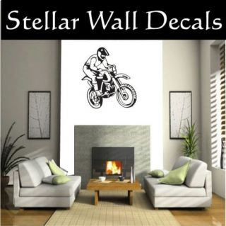 Dirt Bike Moto Wall Car Vinyl Decal Sticker STlarge001