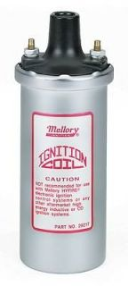 Mallory 29217 Ignition Coil Canister Round Oil Filled Chrome 58000 V