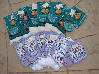 LOT 12 Sets Kitchen Towels Potholders Oven Mitts 36 PIECE Total Bulk