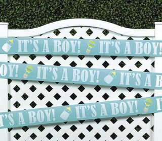 Baby Shower Party BLUE ITS A BOY Decoration Tape