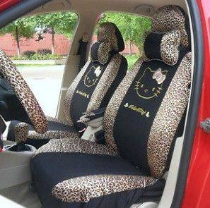 Hello Kitty Auto Car Front Rear Seat Cover CAR accessories 18pc Kit