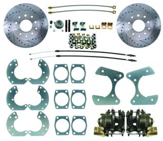 Ford 9 Rear Disc Brake Conversion Kit High Performance Drilled