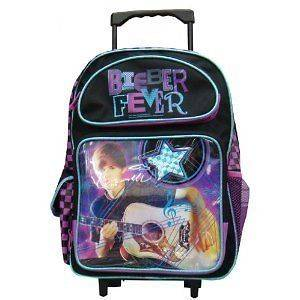 NEW Justin Bieber Beiber Large 16 Rolling Backpack