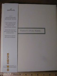 Hallmark 25th Anniversary Memory Book 64 designed pages WCA5301 $36.00