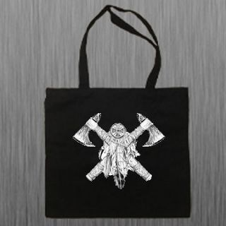 Native American Indian Axes Shoulder Canvas Tote Bag