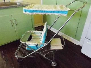 Excellent Vintage 1960s Taylor Tot Baby Stroller with Rear Toddler