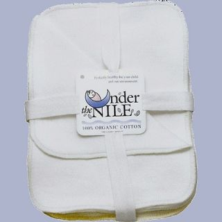 The Nile Organic Sherpa Cotton~Wipes Wash Cloths~12 Pack~Baby Toddler
