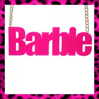 EXTRA LARGE BARBIE NECKLACE NICKI MINAJ FANCY DRESS BARBIE MASSIVE